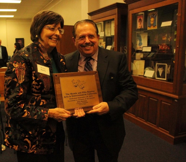 Ellis Nassour with the University of Mississippi Dean of Libraries Photo