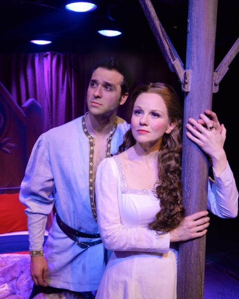 Jeremiah James as Lancelot du Loc, and Jennifer Hope Wills as Queen Guenevere