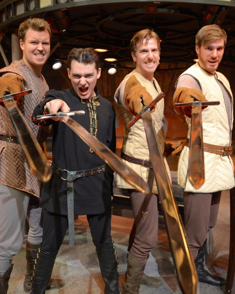 Billy Hepfinger as Sir Lionel,Jordan Wolfe as Mordred, Dan Fenaughty as Sir Dinadan a Photo