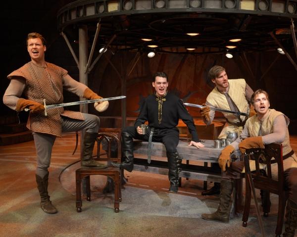 Billy Hepfinger as Sir Lionel, Jordan Wolfe as Mordred, Michael Glavan as Sir Sagramo Photo