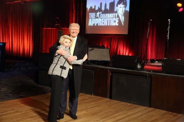 CELEBRITY APPRENTICE -- Episode 1411 -- Pictured: (l-r) Joan Rivers, Donald Trump -- (Photo by: Douglas Gorenstein/NBC)