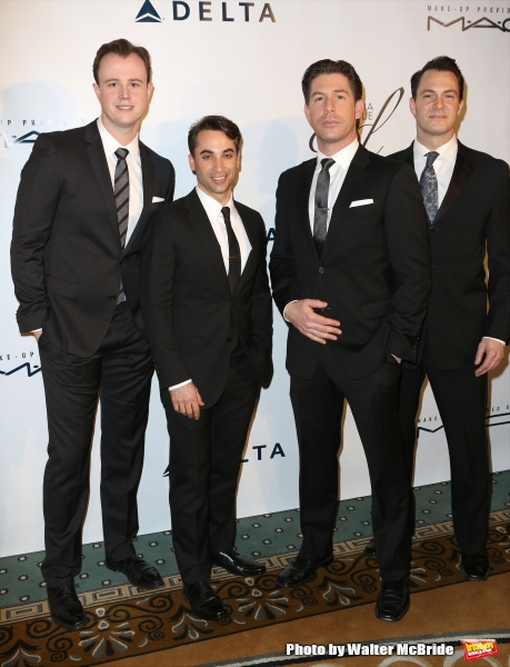 The Jersey Boys cast: Quinn VanAntwerp, Joseph Leo Bwarie, Richard H. Blake and Matt Bogart