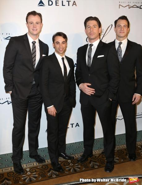 The Jersey Boys cast: Quinn VanAntwerp, Joseph Leo Bwarie, Richard H. Blake and Matt Bogart
