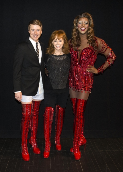 Steven Booth, Reba McEntire, J. Harrison Ghee  Photo