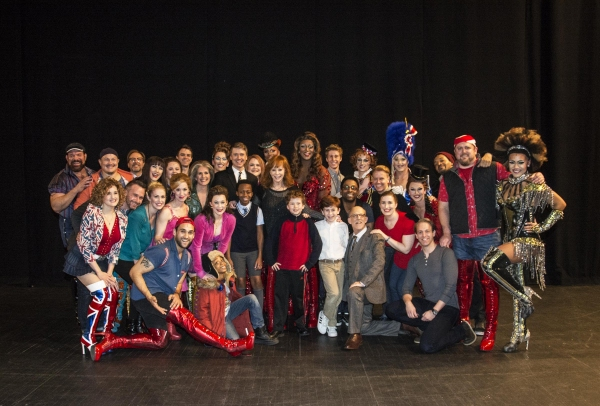 Reba McEntire with the touring cast of Kinky Boots