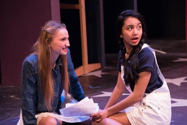Charlotte Jones as Gabriella and Joy Lynn Pringle as Taylor