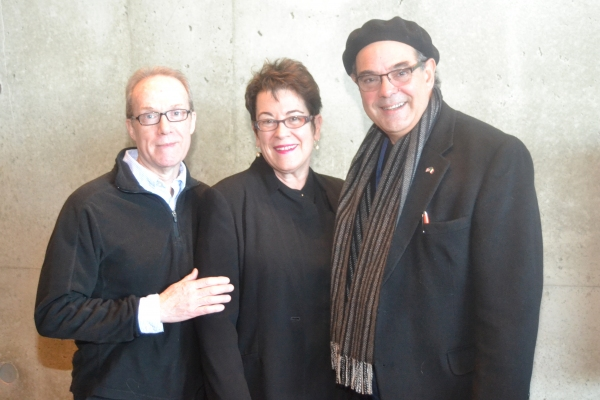 Playwright John Strand, Artistic Director Molly Smith and cast member Edward Gero at the Meet & Greet for The Originalist at Arena Stage at the Mead Center for American Theater February 3, 2015.