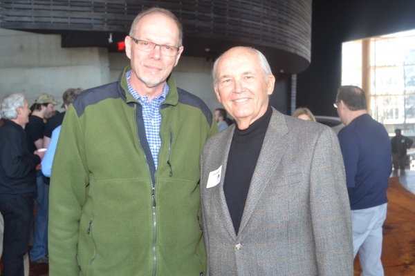 Executive Producer Edgar Dobie and board member John Derrick at the Meet & Greet for The Originalist at Arena Stage at the Mead Center for American Theater February 3, 2015.