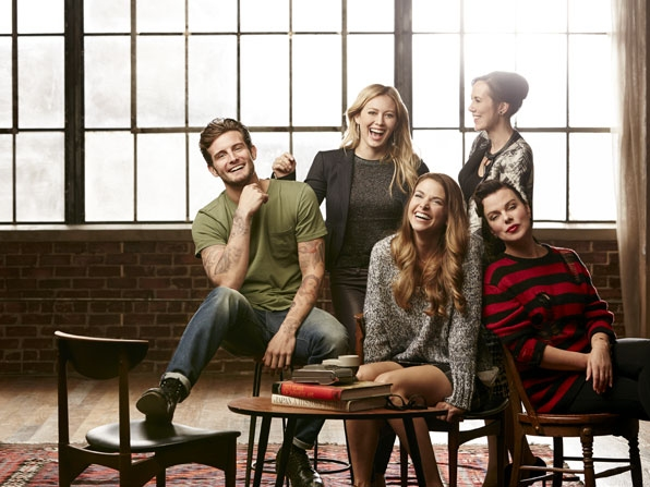 Nico Tortorella, Hilary Duff, Miriam Shor, Sutton Foster and Debi Mazar.