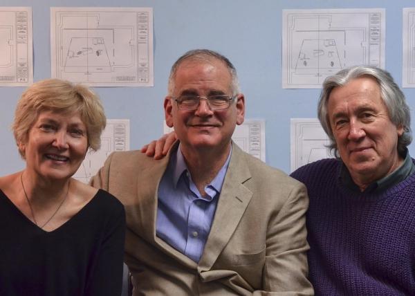 Artistic Director Jan Buttram, playwright Iddo Netanyahu, and director Alex Dmitriev Photo