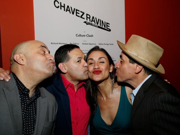 Cast members Herbert Siguenza, Ric Salinas, Sabina Zuniga Varela and Richard Montoya