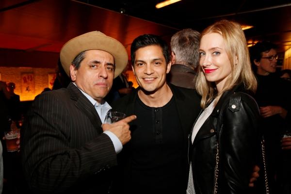 Cast member Richard Montoya, actor Nicholas Gonzalez and actress Kelsey Crane Photo