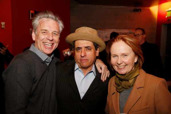 CTG Artistic Director Michael Ritchie, cast member Richard Montoya and actress Kate Burton