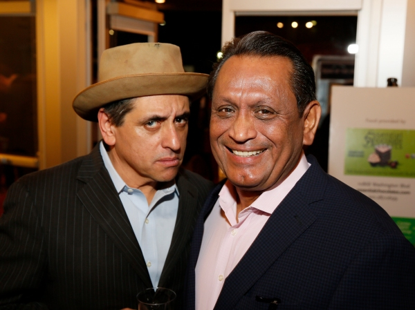Cast member Richard Montoya and Los Angeles City Council Member Gilbert A. Cedillo
