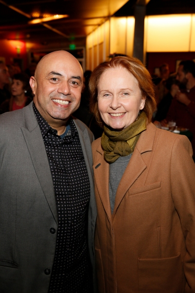 Cast member Herbert Siguenza and actress Kate Burton