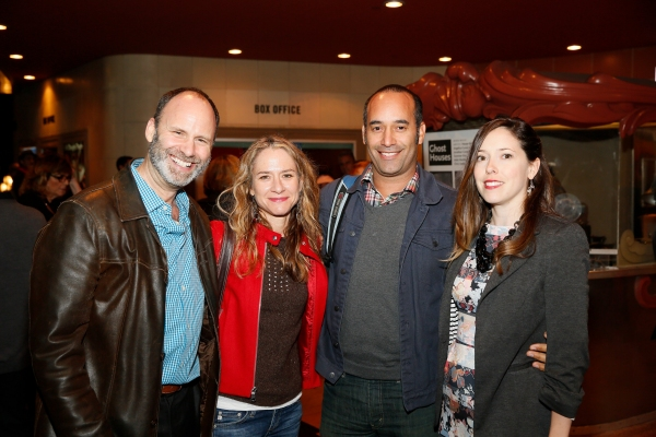 CTG Director of New Play Development Pier Carlo Talenti, playwright Julie Marie Myatt, Nelson DelRosario and CTG Associate Producer Lindsay Allbaugh