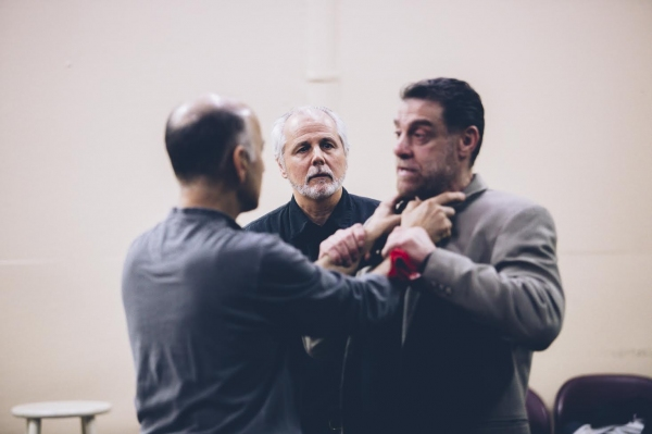 Ned Eisenberg and Lou Liberatore with Fight director Ron Peritti