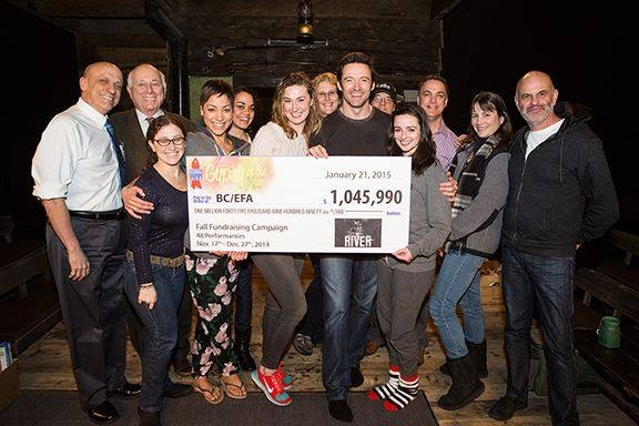 Photo Flash: BC/EFA Thanks Hugh Jackman and Broadway's THE RIVER for Fundraising Efforts