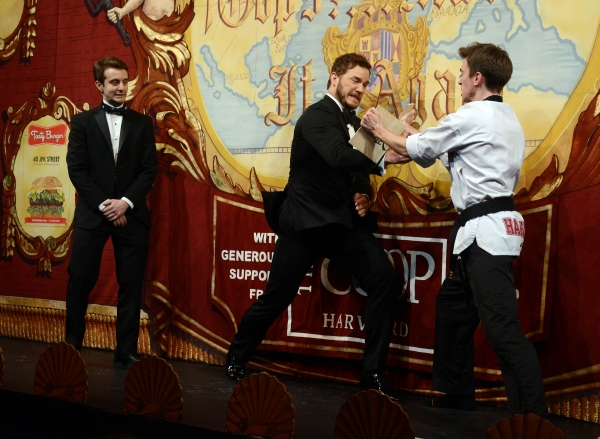 Chris Pratt performs in skits with Joshua Friedman and Sam Clark