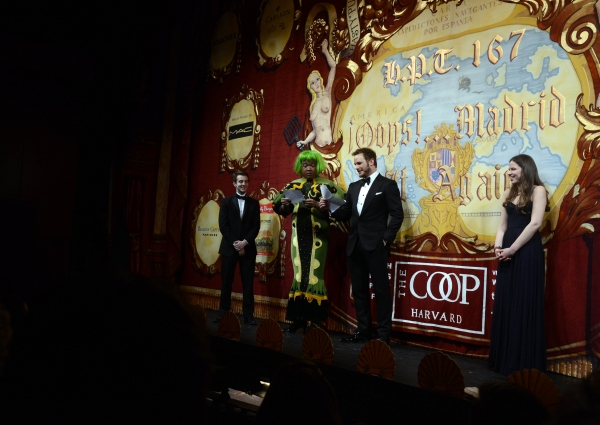 Chris Pratt performs in skits with members of the Hasty Pudding Theatricals club