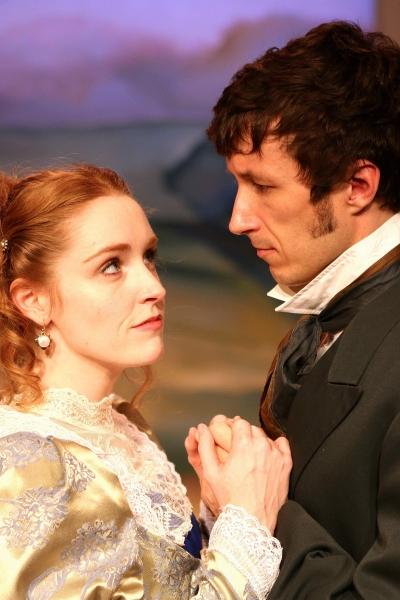 Greyson Chadwick (Elizabeth Bennet) and Paul Turbiak (Mr. Darcy) Photo