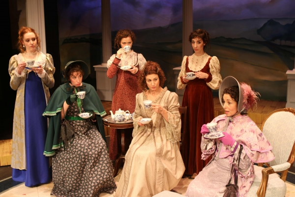 Greyson Chadwick (Elizabeth Bennet), Jorie Janeway (Charlotte Lucas), Ivy Beech (Jane Bennet), Deborah Marlowe (Mrs. Bennet), Francesca Fromang (Lydia Bennet), Jennie Fahn (Lady Lucas)