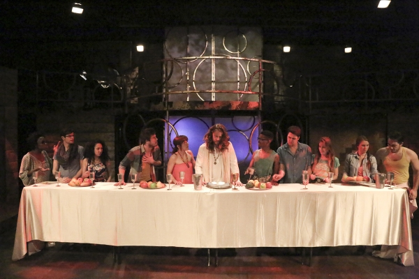 The cast of Jesus Christ Superstar (L to R: Dekontee Tucrkile, Kevin Corsini, Sandra Diana Cantu, Blair Grotbeck, Renee Cohen, Nate Parker, Anthony D. Willis, Alex Allen, Allison Jakubowski, Lauren Tyni, Wesley Moran)