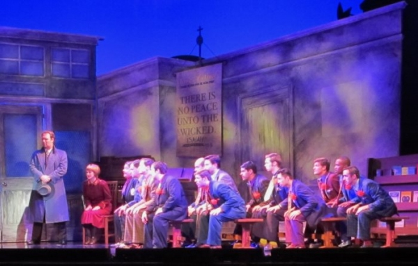 Michael Thatcher (Lt. Brannigan) and the cast in 'Sit Down, You're Rocking The Boat'
