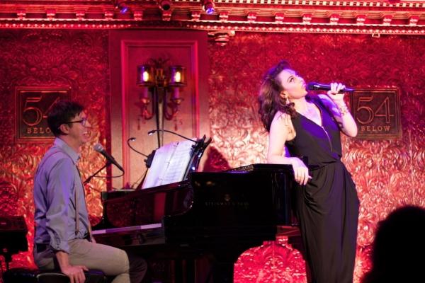 Lesli Margherita (Matilda) opens the show with musical director, Drew Wutke
