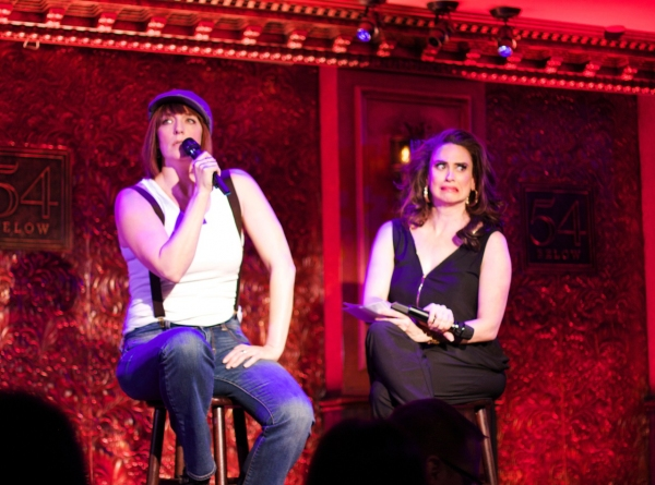 Lesli interviews Julia Murney as Jeremy Jordan. Questions included, 'What is your favorite cookie at Schmackary's?' 'How did you get your Equity card?' 'Discuss being naked in the bathtub during Bonnie & Clyde,' and 'How did you propose to Ashley Spence
