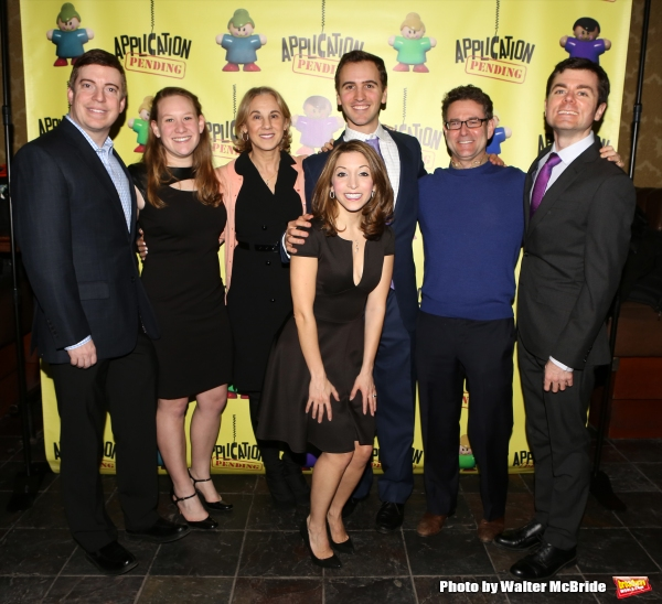 Christina Bianco with Andy Sandberg, Greg Edwards and the show's producers