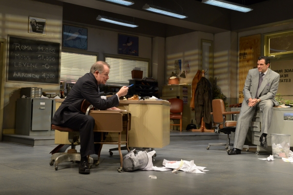 """Shelly """"The Machine"""" Levene (Rob Donohoe) and Richard """"Ricky� Roma (Peter Allas)"""