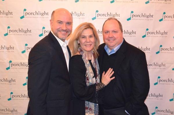Porchlight Music Theatre's Artistic Director Michael Weber, Hollis Resnick and Director of Sondheim on Sondheim Nick Bowling