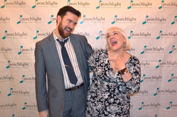 Music Director of Sondheim on Sondheim and Porchlight Artistic Associate Austin Cook and Porchlight Artistic Associate and cast member in Sondheim on Sondheim Rebecca Finnegan