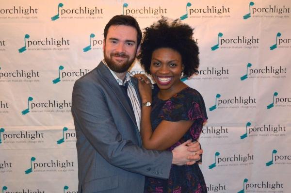 Music Director of Sondheim on Sondheim and Porchlight Artistic Associate Austin Cook and cast member Adrienne Walker