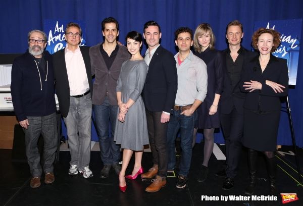 Playwright Craig Lucas, music director Rob Fisher, Robert Fairchild, Leanne Cope, Max Von Essen, Brandon Uranowitz, Jill Paice, director/choreographer Christopher Wheeldon and Veanne Cox