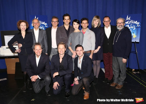 Veanne Cox, producers Ray Furman, Van Kaplan, music director Rob Fisher, director/choreographer Christopher Wheeldon, actors Robert Faircild, Leanne Cope, Max Von Essen, Brandon Uranowitz, Jill Paice, producer Stuart Oken and playwright Craig Lucas