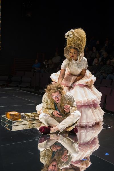 Ensemble members Tim Hopper (Louis XVI) and Alana Arenas