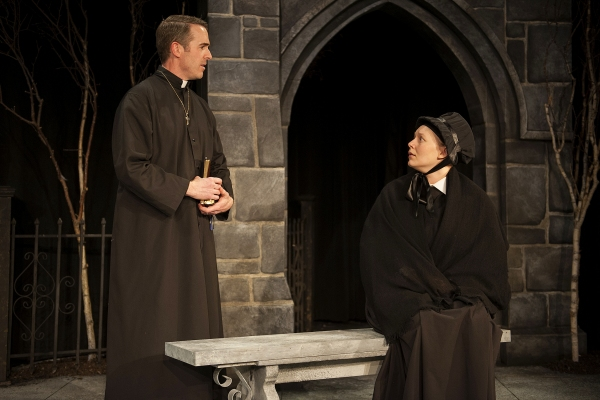 Steve Rhyne as Father Flynn and Mikkel Simons as Sister James  Photo