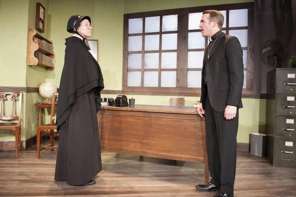 Scarlett Hepworth as Sister Aloysius and Steve Rhyne as Father Flynn  Photo