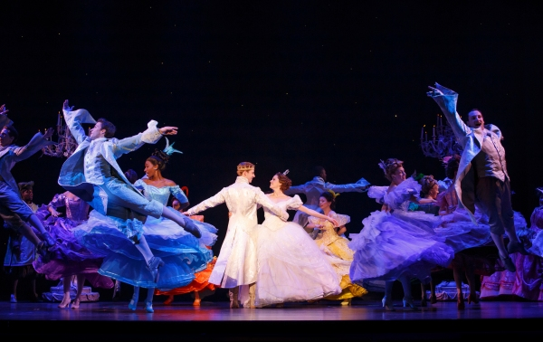 Andy Jones, Paige Faure and the cast of the national tour of CINDERELLA