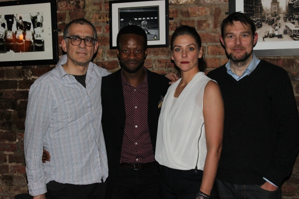 Ramin Grey, Clifford Samuel, Neve McIntosh and David Greig