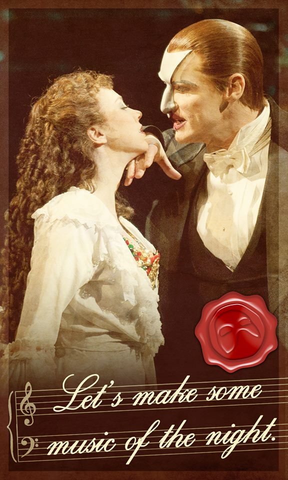 Romantic New THE PHANTOM OF THE OPERA Valentines Day Cards
