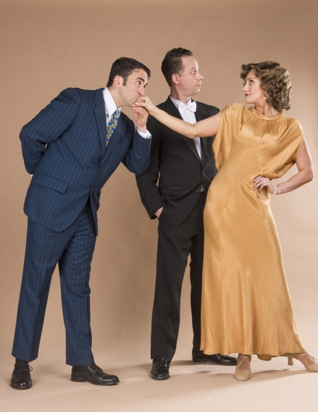 Victor Moisa (Will Giammona) is very taken with Nora (Brittany Danielle) while her husband Nick (center) looks on (Ryan Drummond)