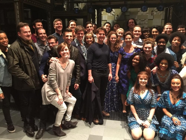 Tom Cruise and the West End Cast of BEAUTIFUL Photo