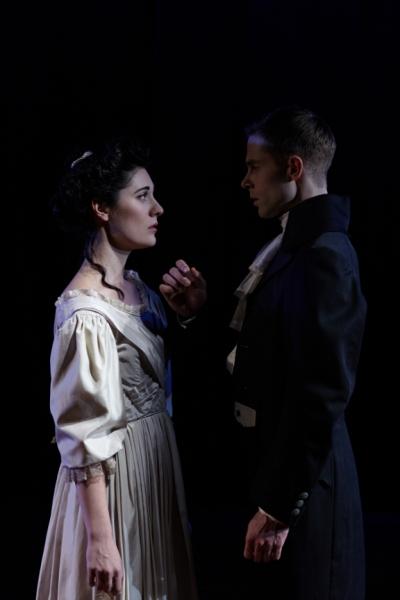 Kelly Rogers (Lizzy) and Preston Martin (Darcy)