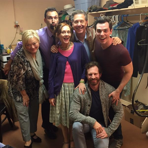 Photo Flash: Saturday Intermission Pics - Feb. 14 Part 2 - ON THE TOWN Cast Sells Kisses and More!