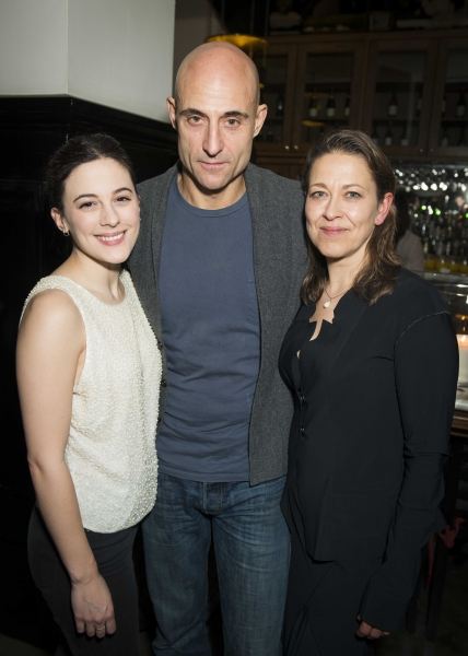 Phoebe Fox, Mark Strong, and NIcola Walker