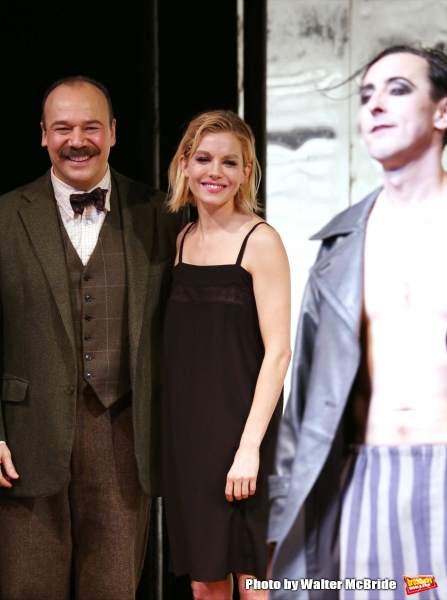 Danny Burstein, Sienna Miller and Alan Cumming