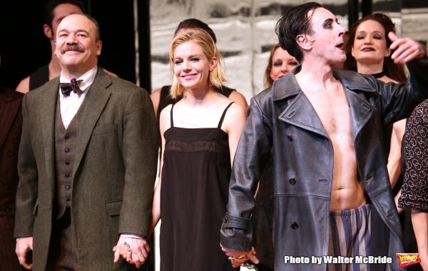 Danny Burstein, Sienna Miller and Alan Cumming